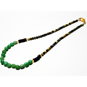 Yellow and green stone necklace