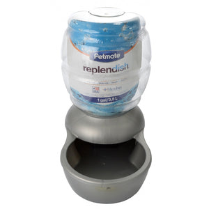 Petmate Replendish Waterer - Pearl Silver Gray