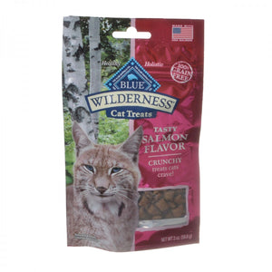 Blue Buffalo Wilderness Crunchy Cat Treats - Tasty Salmon Flavor