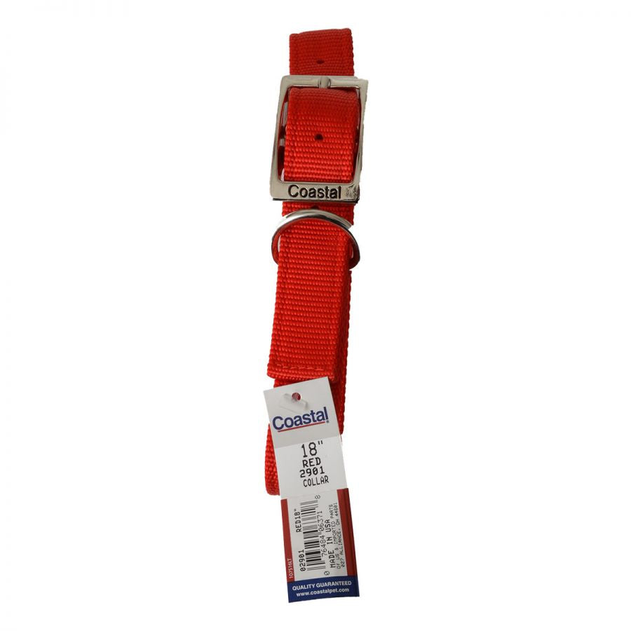 Coastal Pet Double Nylon Collar - Red