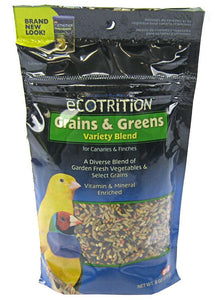 Ecotrition Grains & Greens Variety Blend for Canaries & Finches
