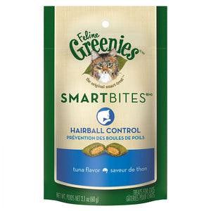Greenies SmartBites Hairball Control Tuna Flavor Cat Treats