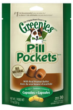 Load image into Gallery viewer, Greenies Pill Pocket Peanut Butter Flavor Dog Treats