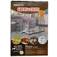 Load image into Gallery viewer, Precision Pet Great Crate Folding Crate - 2 Door Crate (Front & Top Doors) Black
