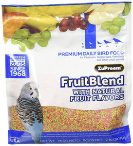 ZuPreem FruitBlend Flavor Bird Food for Small Birds