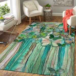 Art of Butterfly Area Rug, OFD 191016