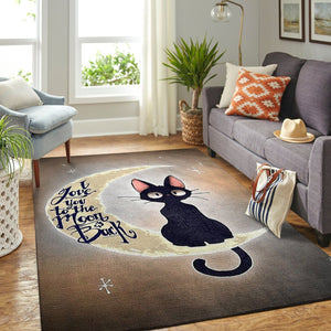 """I Love U To The Moon and Back"" Cat Area Rug, OFD 190827"