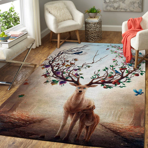 Art Of Deer Area Rug, OFD 1910165