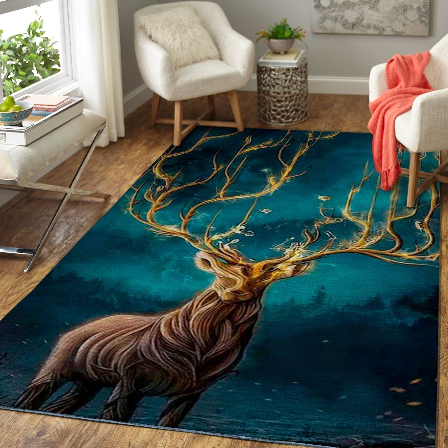 Art Of Deer Area Rug, OFD 1910164
