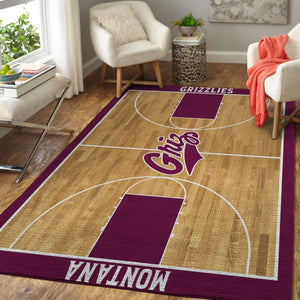 Montana Grizzlies NCAA Basketball Rug Room Carpet Sport Custom Area Floor Home Decor