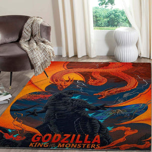 Godzilla Area Rug, Christmas Gift, Movie Carpet Floor Decor 07