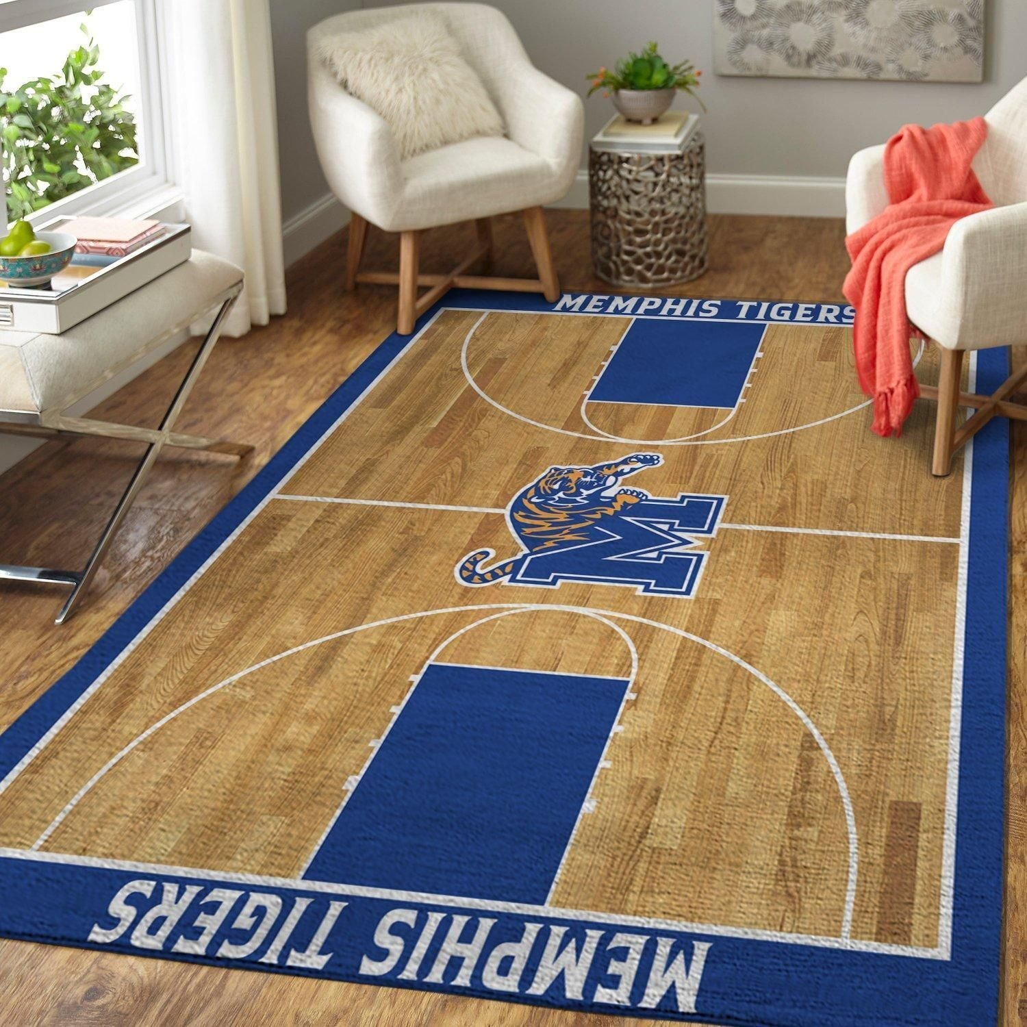 Memphis Tigers NCAA Basketball Area Rugs Living Room Carpet Sport Custom Floor Home Decor