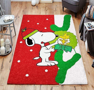 Snoopy Area Rug, Christmas Disney Rugs Floor Decor 02112