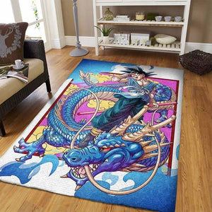 Dragon Ball Area Rugs - Son Goku, Movie Living Room Carpet, Custom Floor Home Decor D30107