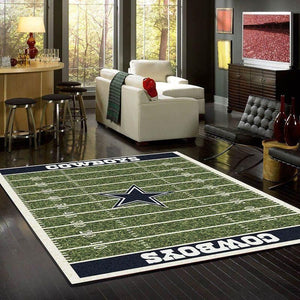 Dallas Cowboys Home Field Area Rug, NFL Football Team Logo Carpet, Living Room Rugs Floor Decor 191022