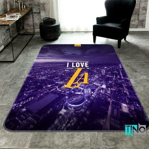 Los Angeles Lakers NBA Logo 3D Area Rugs Living Room Carpet Christmas Gift Floor Decor RCDD81F32881