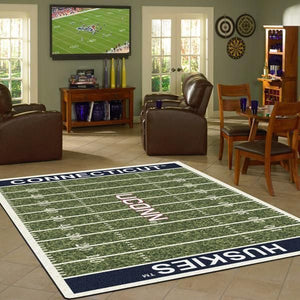 Connecticut Huskies Area Rugs NCAA Football Basketball Living Room Carpet Sport Custom Area Floor Home Decor