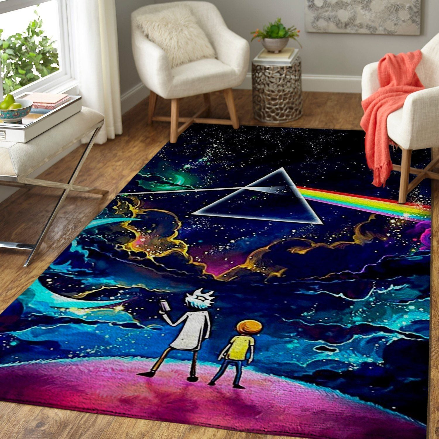 Rick & Morty Area Rugs, Movie Living Room Carpet, Custom Floor Decor