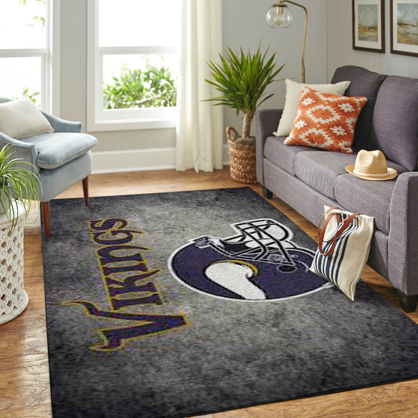 Minnesota Vikings Area Rugs NFL Football Living Room Carpet Team Logo Custom Floor Home Decor