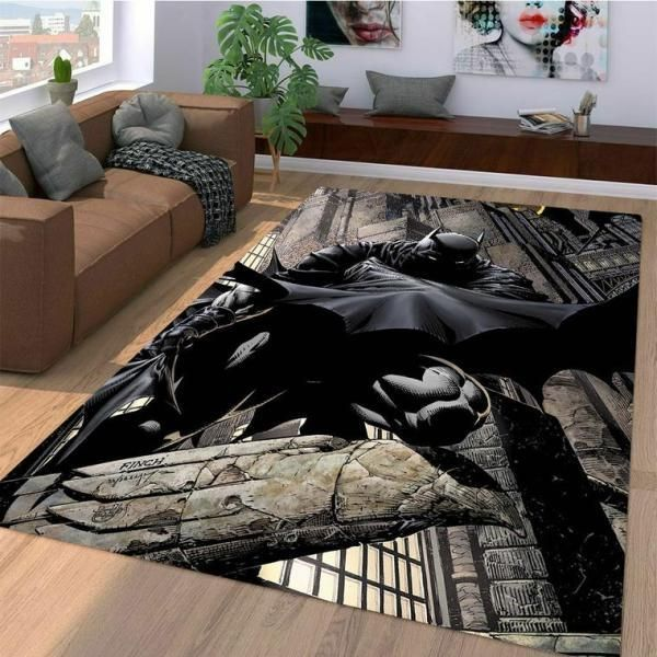 Batman Area Rugs, Superhero Movie Living Room Carpet, Custom Floor Decor 10112