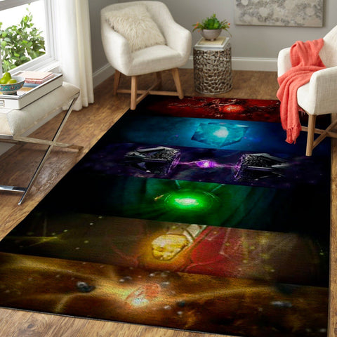 6 Infinity Stones Area Rugs / Marvel Movie Living Room Carpet Custom Floor Home Decor 190918