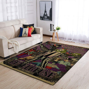 Beetlejuice Area Rugs, Movie Living Room Carpet, Custom Floor Decor
