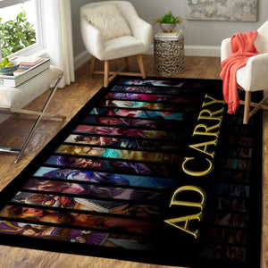 League Of Legends LOL Area Rug, Gaming Carpet, Gamer Living Room Rugs, Floor Decor 19091602