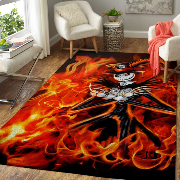 Fire Jack Skellington - The Nightmare Before Christmas 190909 - Halloween Area Rugs - Movie Living Room Carpet, Custom Floor Decor