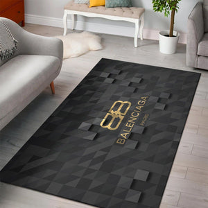 Balenciaga Area Rug, Dark Hypebeast Carpet, Luxurious Fashion Brand Logo Living Room  Rugs, Floor Decor 2002181