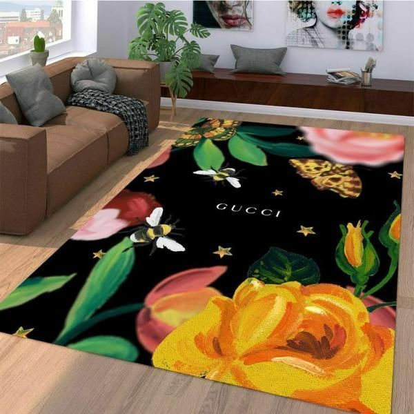 Gucci Area Rug, Red Snake Hypebeast Carpet, Luxurious Fashion Brand Logo Living Room  Rugs, Floor Decor 071110