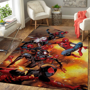 Marvel Superhero Spiderman Area Rugs / Movie Living Room Carpet, Custom Floor Decor 03111