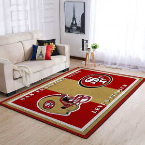 San Francisco 49ers Area Rug, NFL Football Team Logo Carpet, Living Room Rugs Floor Decor 03111