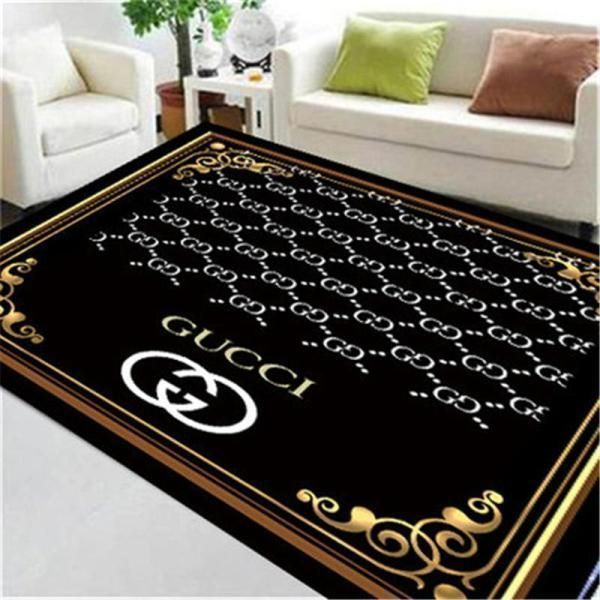 Gucci Area Rug Hypebeast Carpet, Luxurious Fashion Brand Logo Living Room  Rugs, Floor Decor 071126