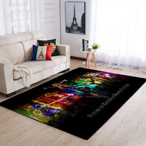 Future of Kingdom Hearts Faction Area Rug / Gaming Carpet, Gamer Living Room Rugs, Floor Decor 19091601