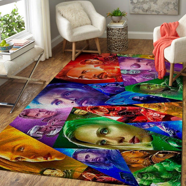 Marvel Superhero Area Rugs / Avengers Infinity War Movie Living Room Carpet, Custom Floor Decor