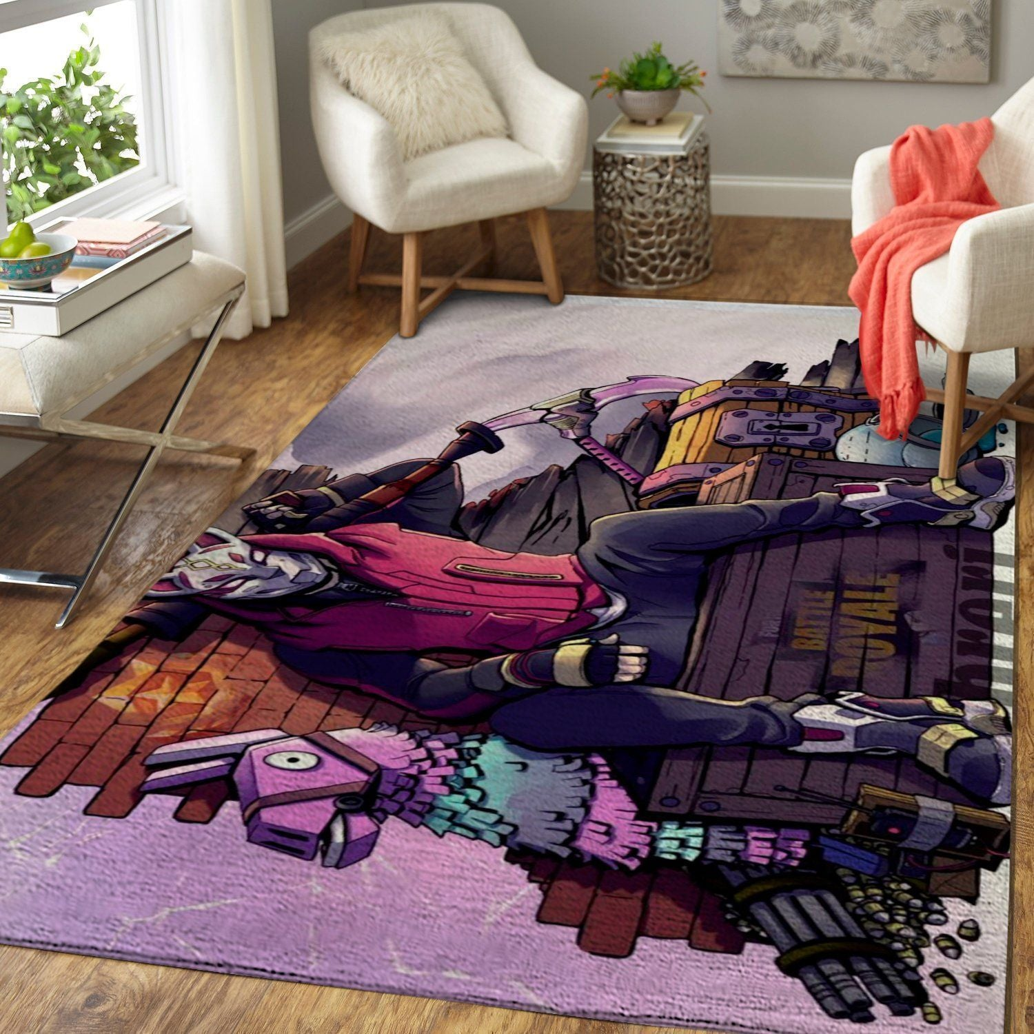 Fortnite Area Rug Video Game Carpet, Gamer Living Room Rugs, Floor Decor 1910183