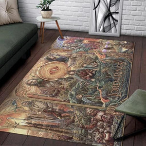 The Lord Of The Rings Area Rugs / Movie Living Room Carpet, Custom Floor Decor 02116