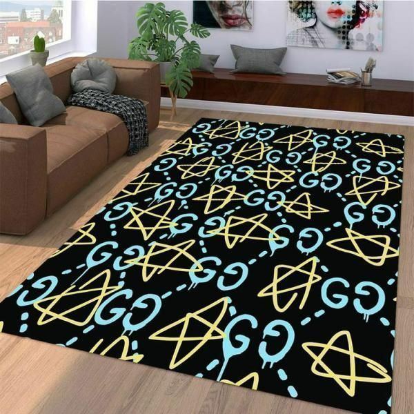 Gucci Area Rug Hypebeast Carpet, Luxurious Fashion Brand Logo Living Room  Rugs, Floor Decor 071118