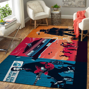 Back to the Future Trilogy Area Rugs, Movie Living Room Carpet, Custom Floor Decor 4