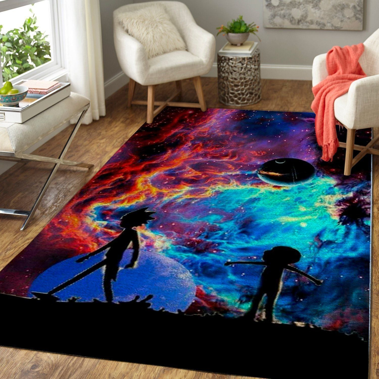 Rick & Morty Area Rugs / Movie Living Room Carpet, Custom Floor Decor