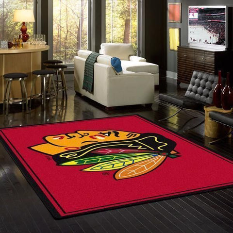 Chicago Blackhawks Area Rugs NHL Ice Hockey Team Living Room Carpet Sport Custom Area Floor Home Decor