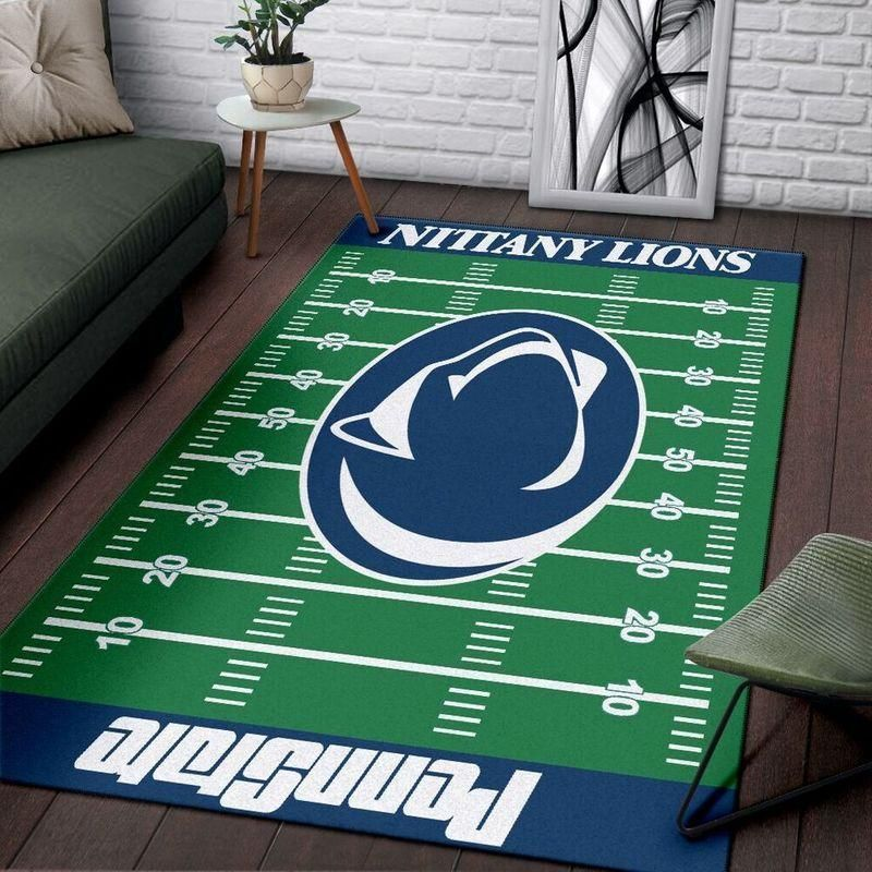 Penn State Nittany Lions Area Rugs Home Field Football Team Logo Carpet, Living Room Rugs Floor Home Decor F102121