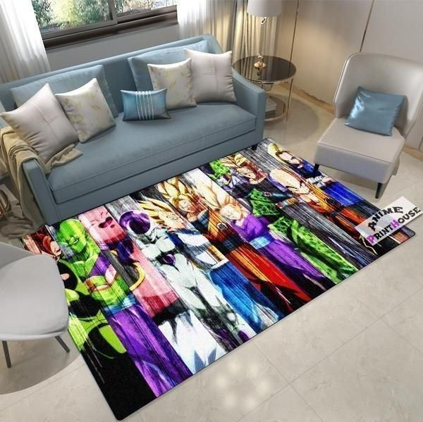 Dragon Ball Area Rugs, Anime, Manga Living Room Carpet, Custom Floor Decor D30105