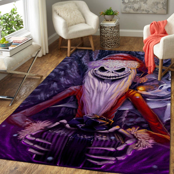 Scary Santa Jack Skellington - The Nightmare Before Christmas - Halloween Area Rugs Living Room Carpet, Custom Floor Decor 190909