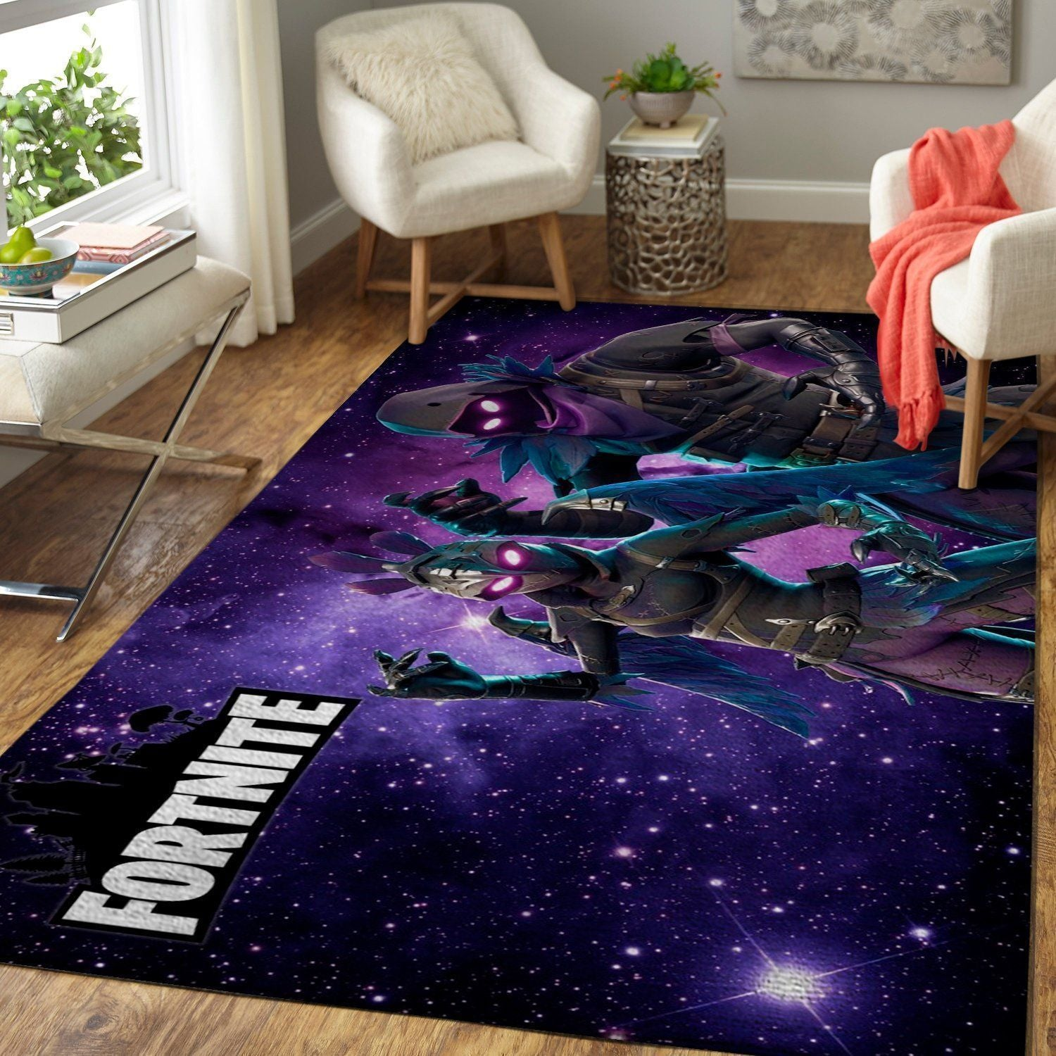 Fortnite Area Rug Video Game Carpet, Gamer Living Room Rugs, Floor Decor F25108
