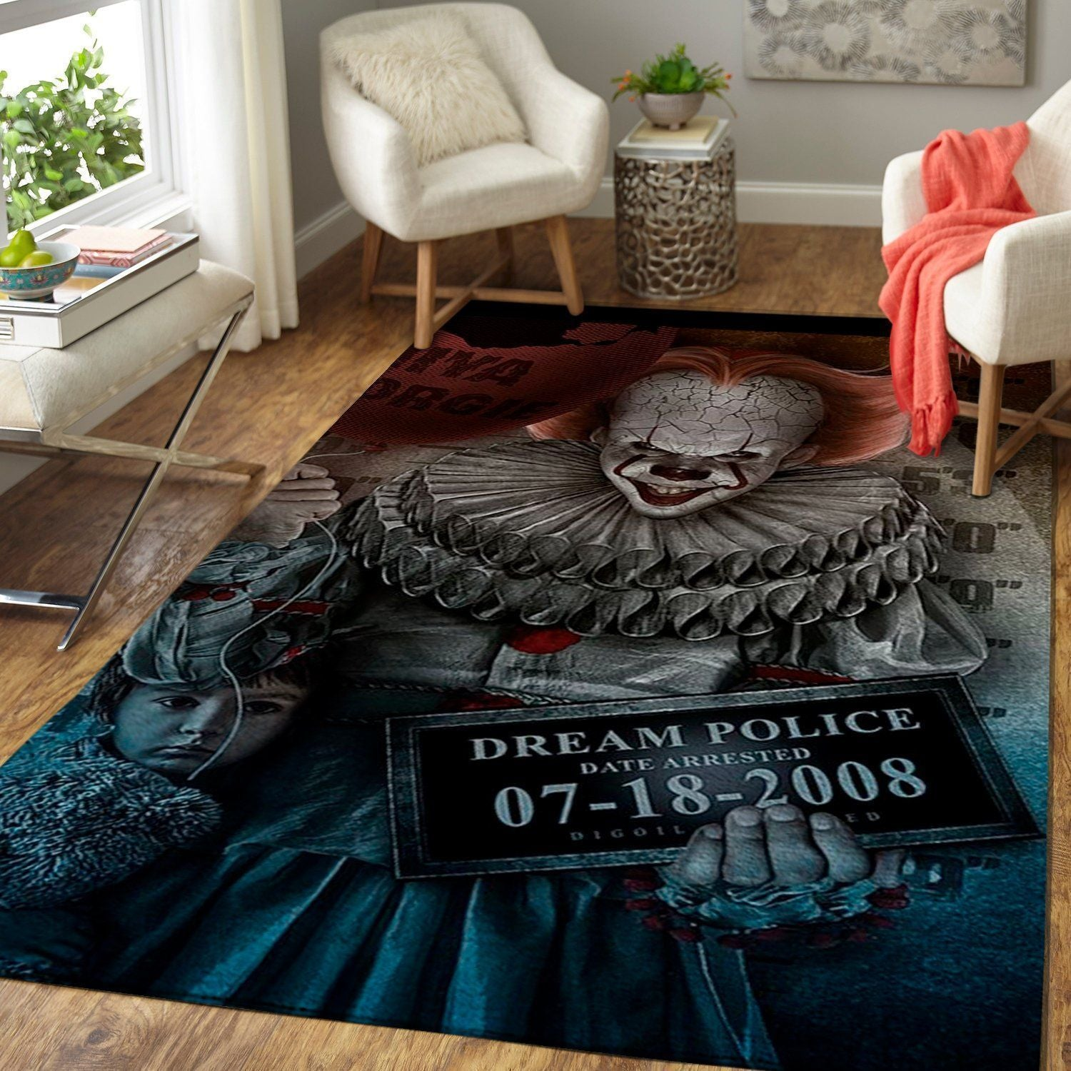 IT Area Rugs - Movie Living Room Carpet, Custom Floor Decor
