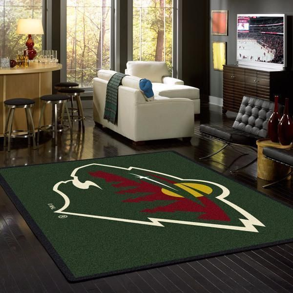 Minnesota Wild Area Rugs NHL Ice Hockey Team Living Room Carpet Sport Custom Area Floor Home Decor