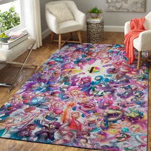 Super Smash Bros. Area Rug Nintendo Video Game Carpet, Gamer Living Room Rugs, Floor Decor 190916