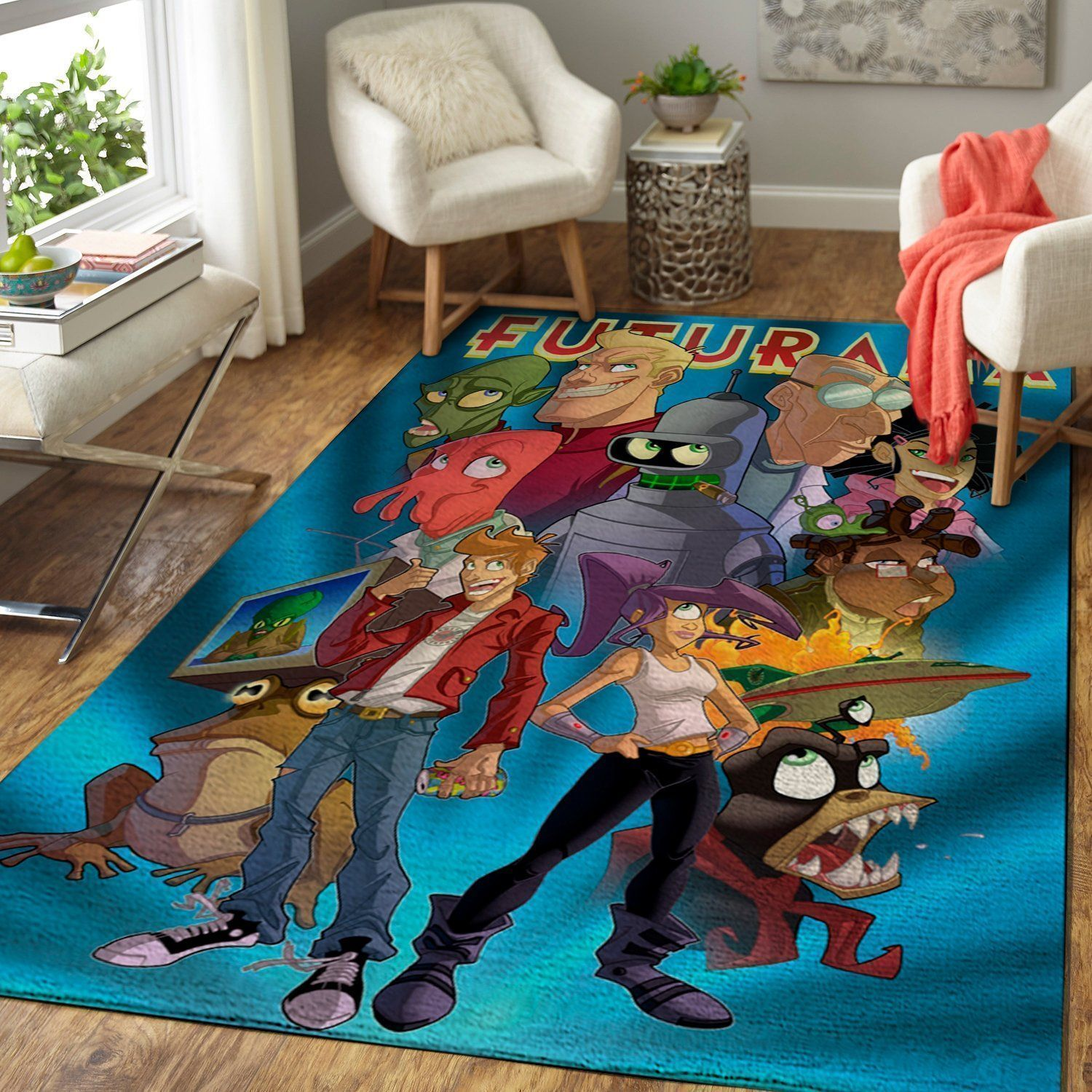 Futurama Area Rugs, Movie Living Room Carpet, Custom Floor Decor