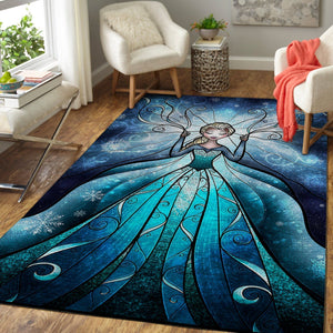 Elsa Frozen - Disney Princess Area Rugs Disney Cartoons Carpet Living Room Carpet, Custom Floor Decor 4